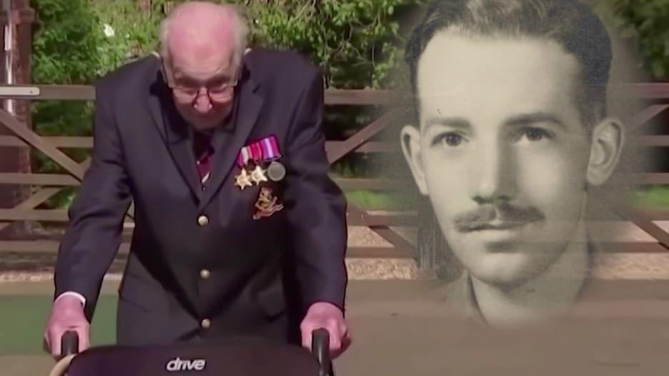 صفّقوا له في جميع أنحاء البلاد.. بريطانيا تكرّم الكابتن مور بعد موته بكورونا