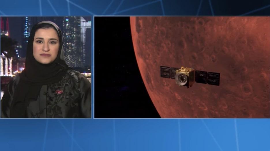 سارة الأميري لـCNN: مسبار الأمل الإماراتي هو أول قمر صناعي للطقس على المريخ