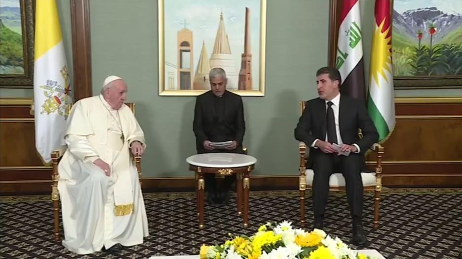 البابا فرنسيس يلتقي كبار المسؤولين الأكراد