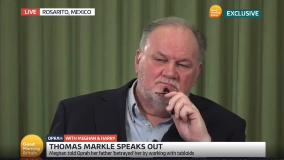 والد ميغان ماركل: أعتقد أن السؤال حول لون بشرة الطفل غبيا