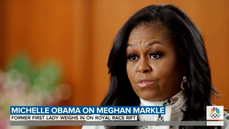 شاهد رد فعل ميشيل أوباما على تجارب ميغان ماركل مع العائلة الملكية البريطانية