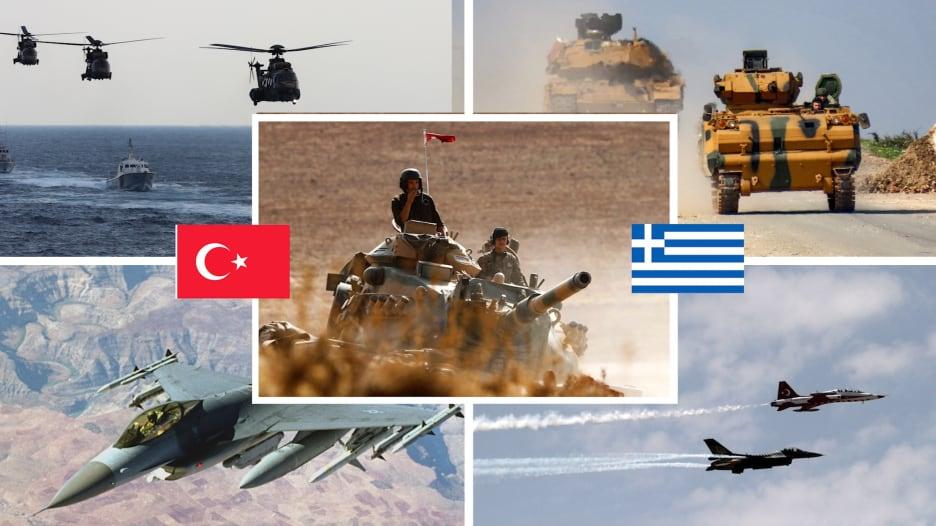 مع بدء عين الصقر بمشاركة سعودية.. إليكم مقارنة بين جيشي تركيا واليونان