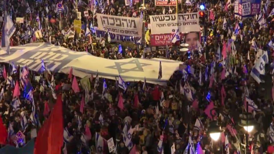 مظاهرات حاشدة ضد نتنياهو قبل الانتخابات الإسرائيلية