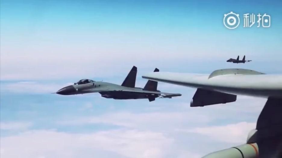 فيديو يظهر مناورات بحرية صينية وسط تصاعد التوترات حول تايوان