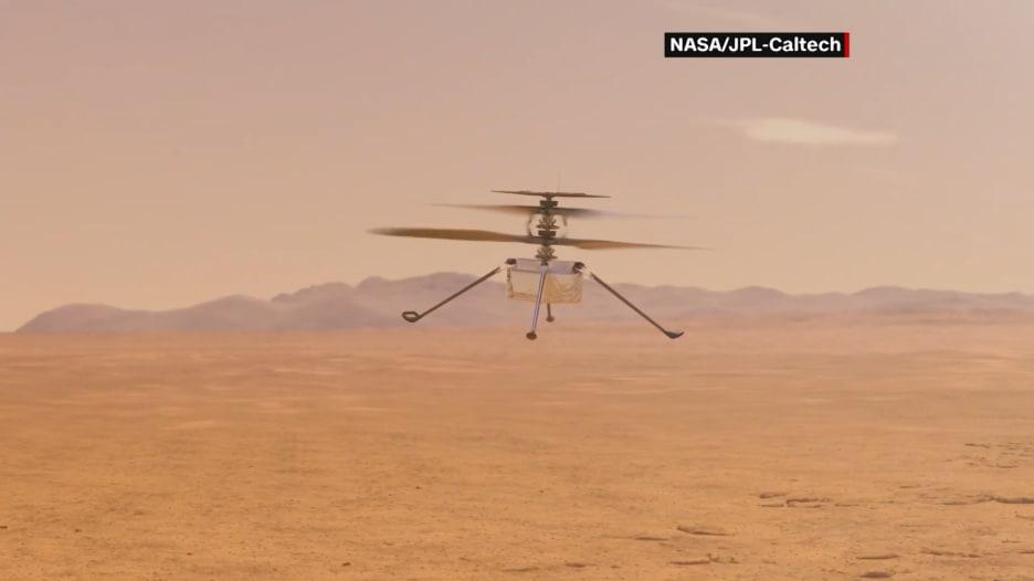 نظرة على مروحية المريخ من ناسا.. أول رحلة لها قد تكون الاثنين
