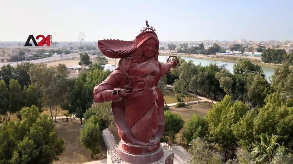 أكبر تمثال في العالم العربي.. نصب تسواهن في العراق يقف كرمز للمرأة الميسانية في وجه الحروب