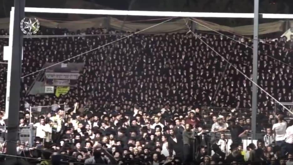 """شاهد لحظة التدافع في """"جبل ميرون"""" الذي أدى لمقتل العشرات في إسرائيل"""