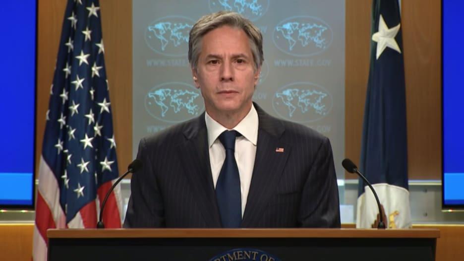 وزير الخارجية الأميركي: ملتزمون بحل الدولتين وندعم حق إسرائيل في الدفاع عن نفسها