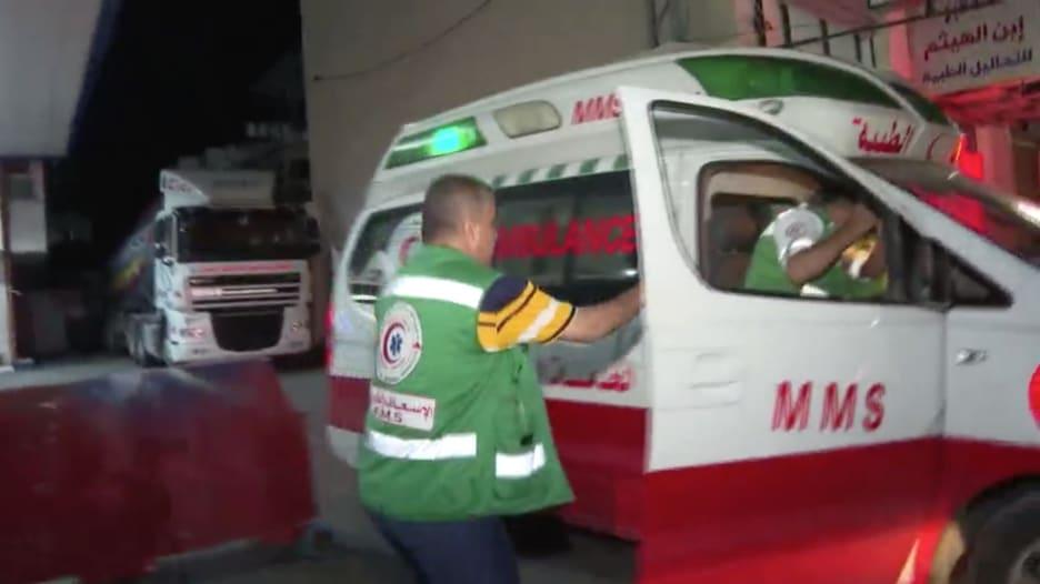 شاهد.. وضع طاقم إسعاف في غزة والاستجابة للحالات الطارئة