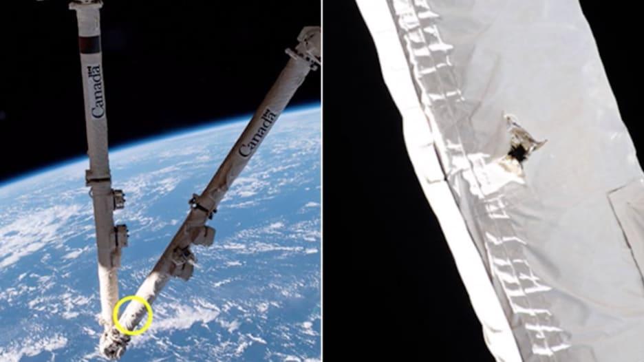 خردة فضائية تصطدم بمحطة الفضاء الدولية.. وتتلف ذراعًا آليًا
