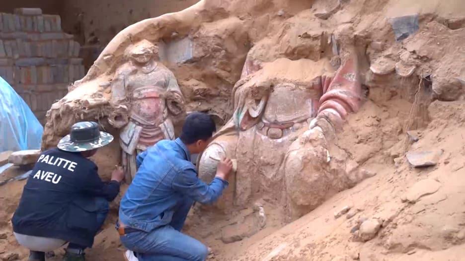 شاهد.. اكتشاف أنقاض حصن من سور الصين العظيم في المنطقة الشمالية الغربية من البلاد