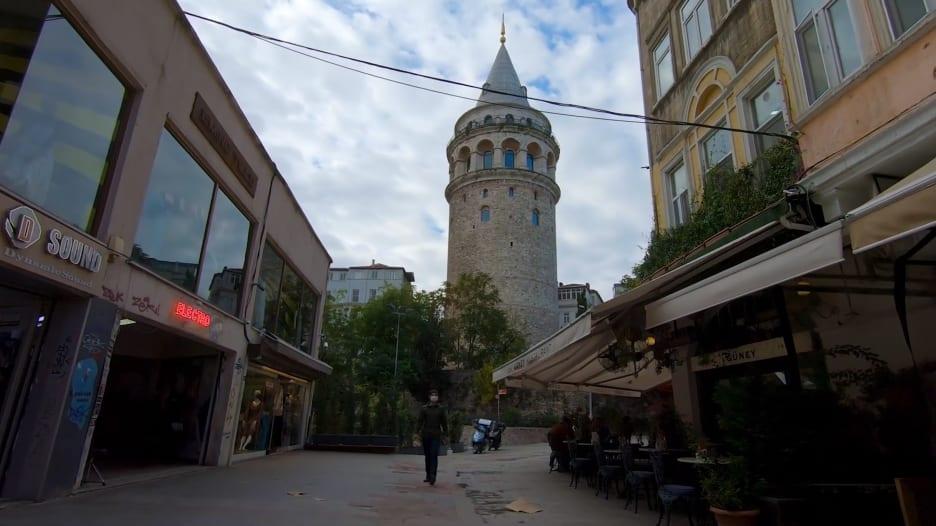 برج غلاطة في إسطنبول، تركيا