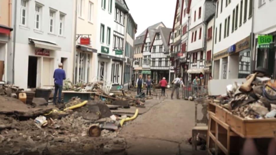 بعض منازلها بُني قبل 400 عام.. فيضانات ألمانيا تدمر بلدة تاريخية