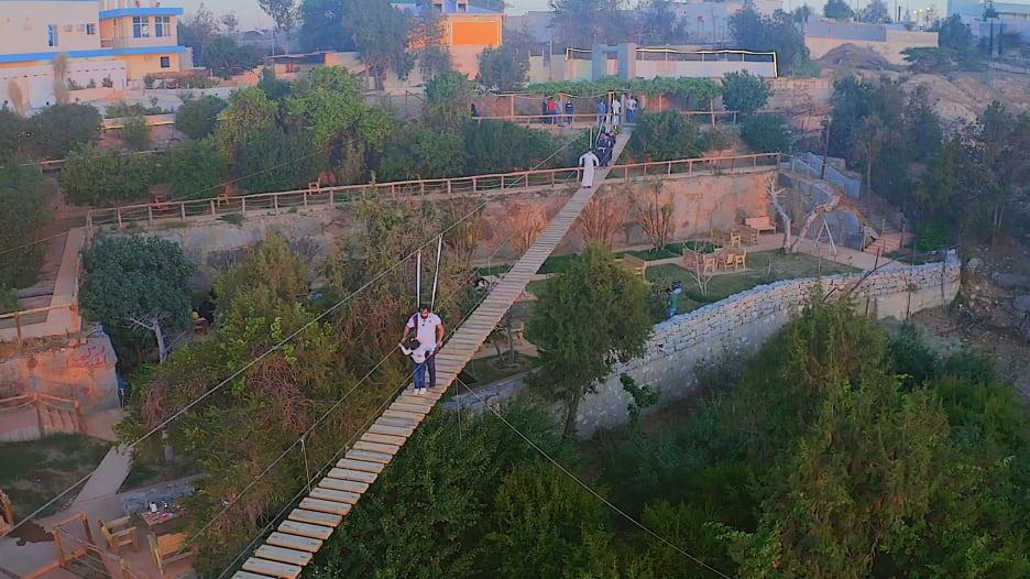 الجسر المعلق في منطقة الباحة بالسعودية