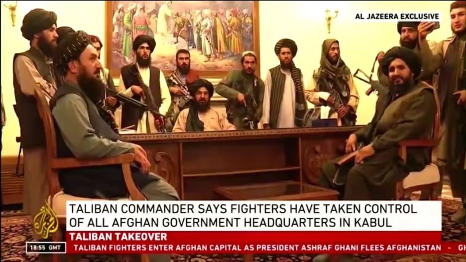 شاهد.. طالبان داخل القصر الرئاسي في كابول.. كيف وصلت الأمور إلى هنا؟