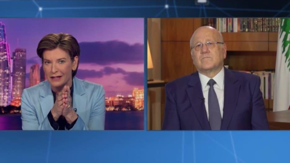 مذيعة CNN لمقياتي: هل أجبرت على اختيار أعضاء حزب الله في حكومتك؟