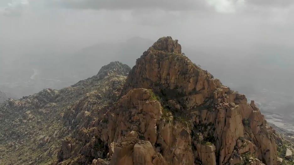 جبل شدا الأعلى في السعودية