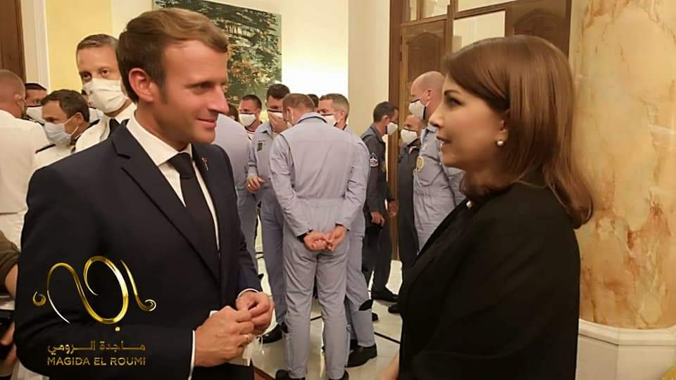 """ماجدة الرومي تكشف عن صورة لعناقٍ مؤثر مع الرئيس الفرنسي """"ستكونون بخير"""""""