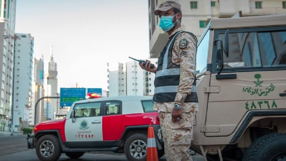 انتشار قوات الحرس الوطني السعودي في مكة للمساعدة في فرض حظر التجول