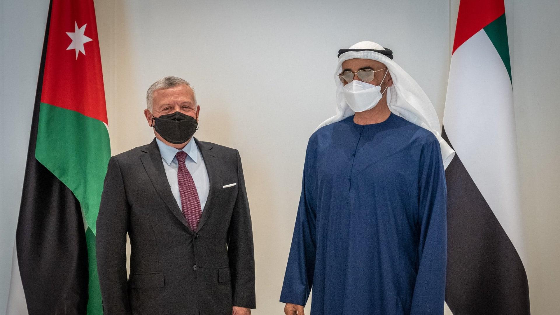 العاهل الأردني يزور الإمارات.. وولي عهد أبوظبي يؤكد عمق العلاقات بين البلدين