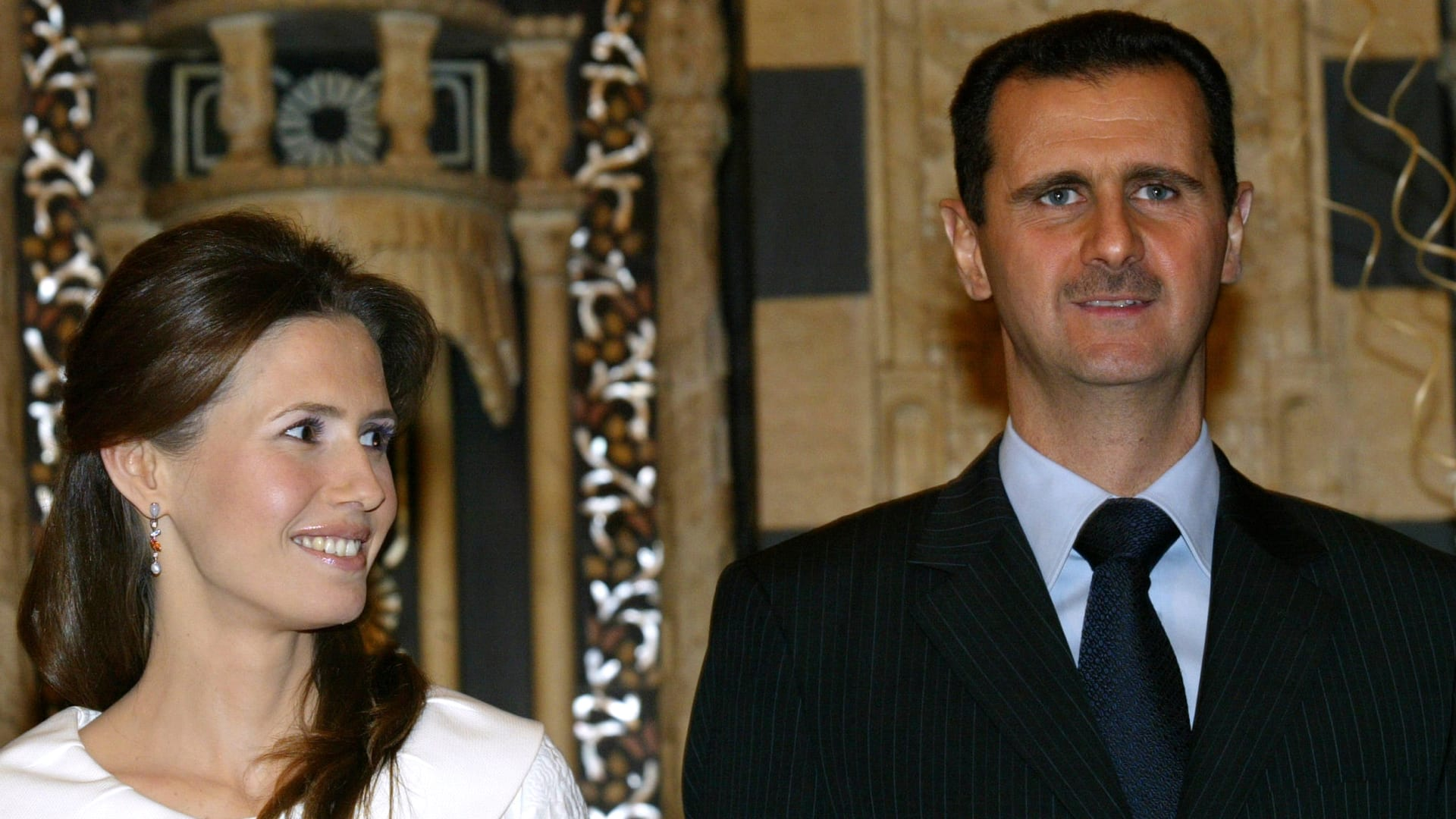 صورة أرشيفية لبشار الأسد وزوجته
