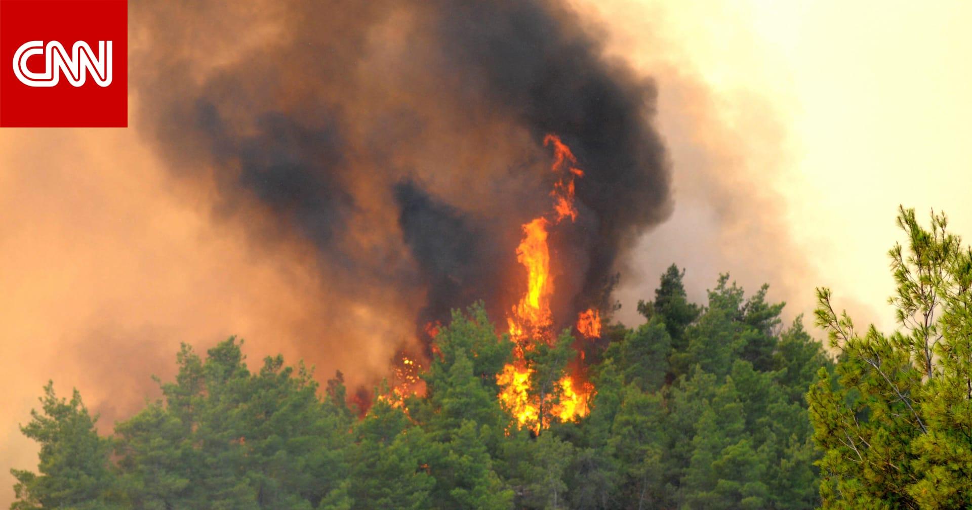 حريق ضخم في منطقة الغابات جنوب تركيا يجبر السكان على الإخلاء