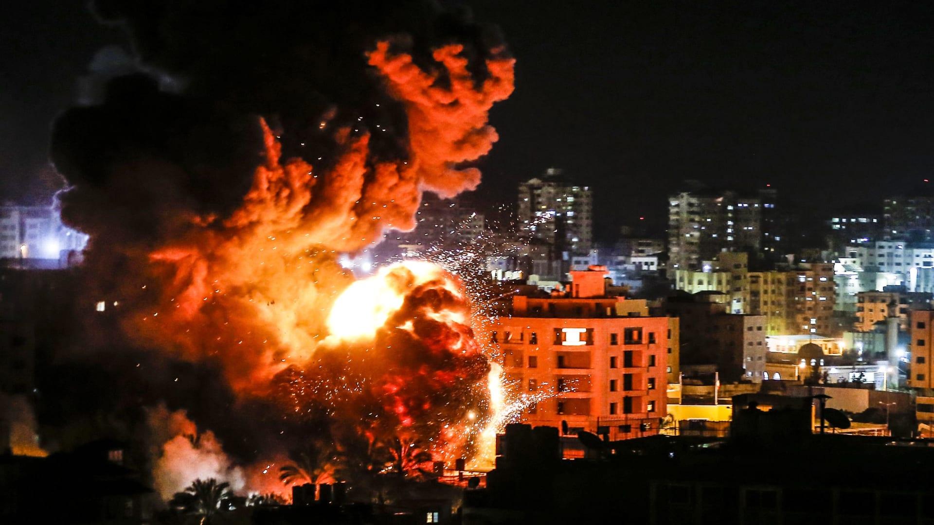 الجيش الإسرائيلي: لحظة استهداف مجموعة تحاول إطلاق طائرة مسيرة من غزة