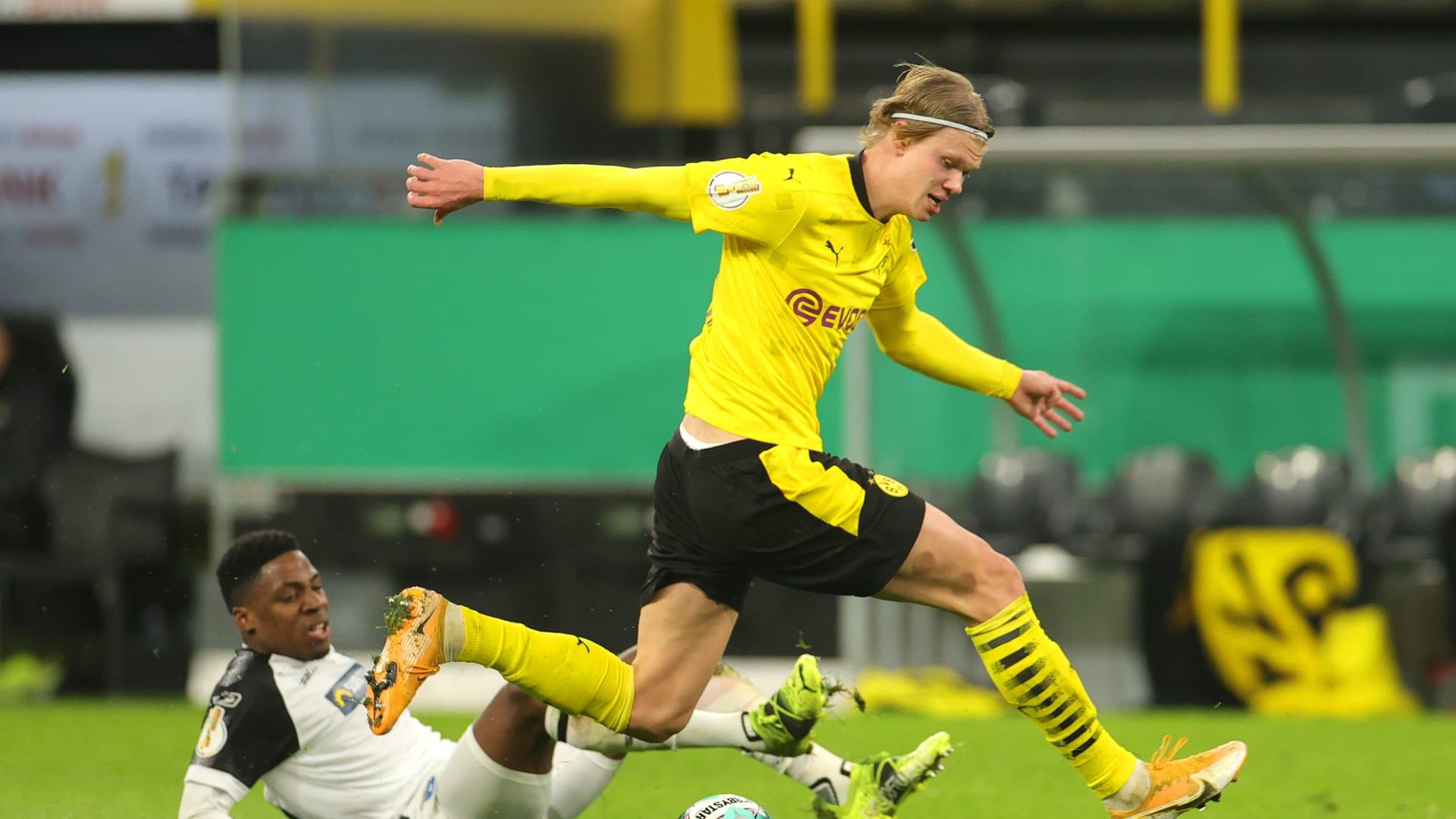 بروسيا دورتموند يتأهل لربع نهائي دوري أبطال أوروبا بعد ثنائية هالاند في إشبيلية