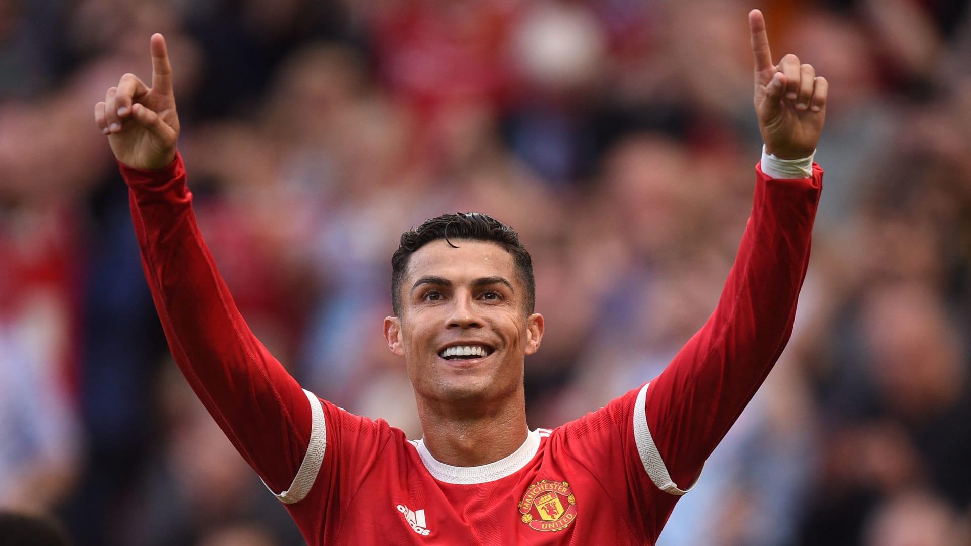 رونالدو في أول مباراة له مع مانشستر يونايتد