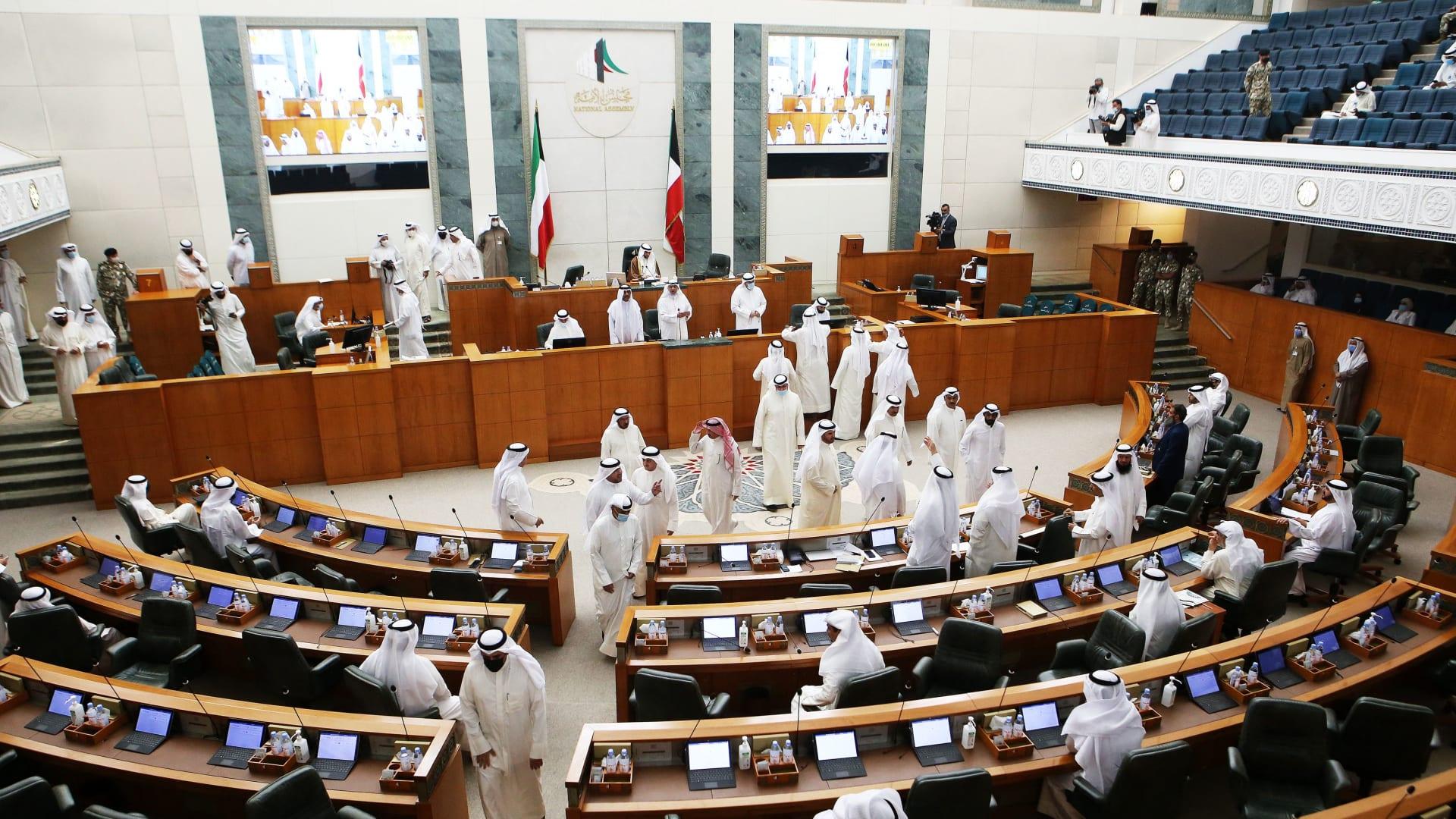 من جلسة مجلس الأمة الكويتي، الثلاثاء