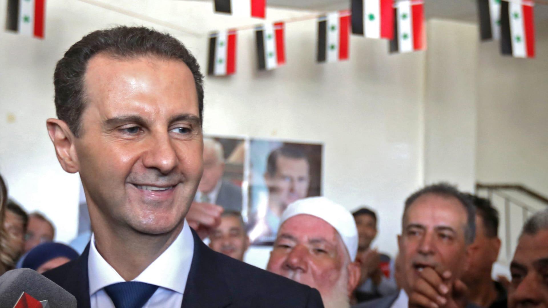 """من دوما.. بشار الأسد يرد على البيان الرباعي: اهتمامنا برأيكم في الانتخابات """"صفر"""""""