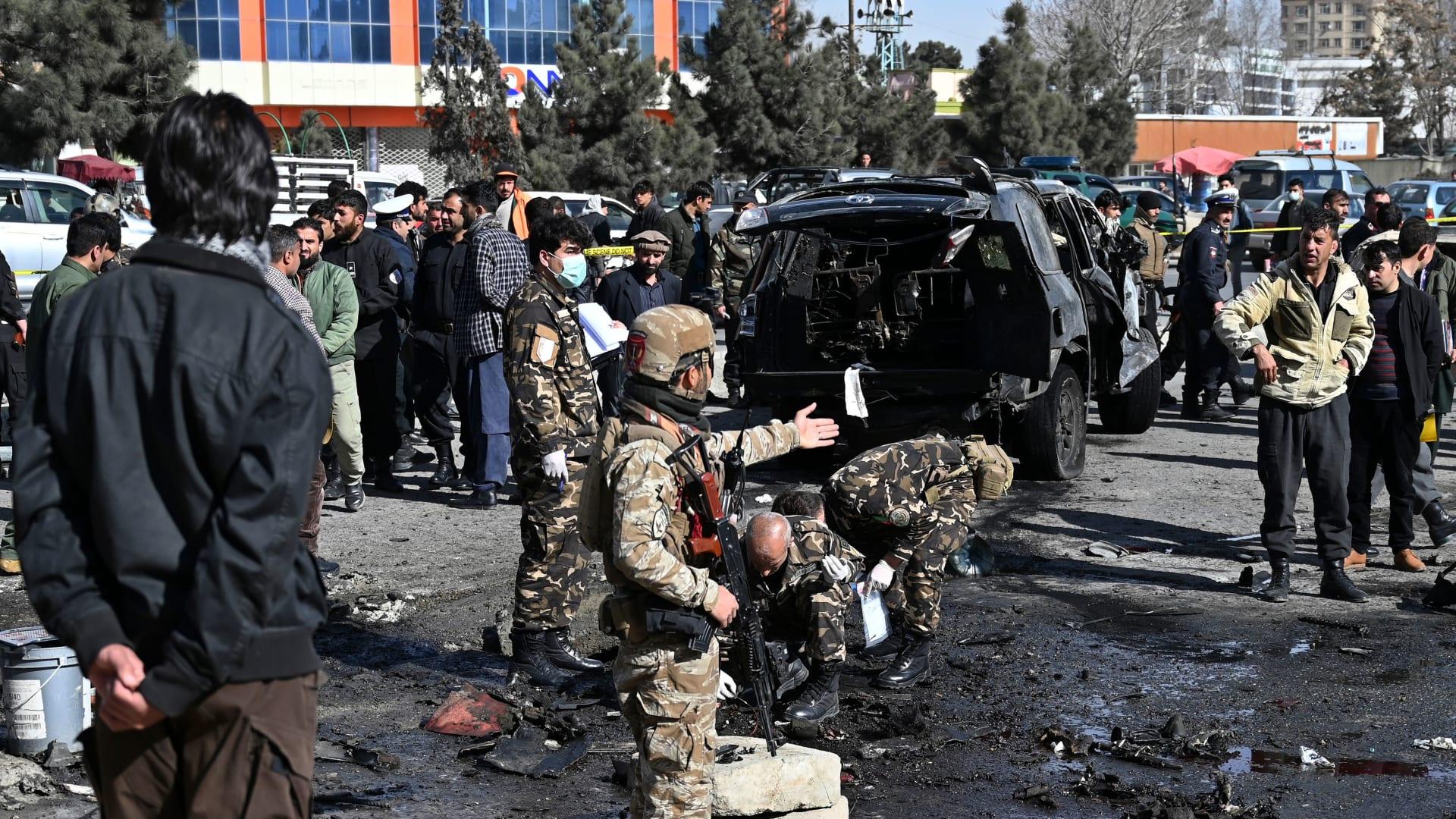 انفجار في العاصمة الأفغانية كابول - صورة أرشيفية