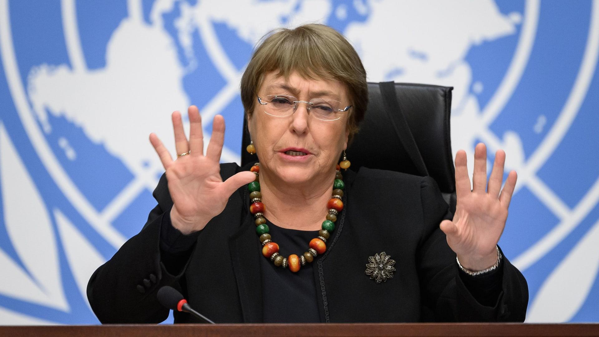 مفوضة الأمم المتحدة السامية لحقوق الإنسان ميشيل باشيليت