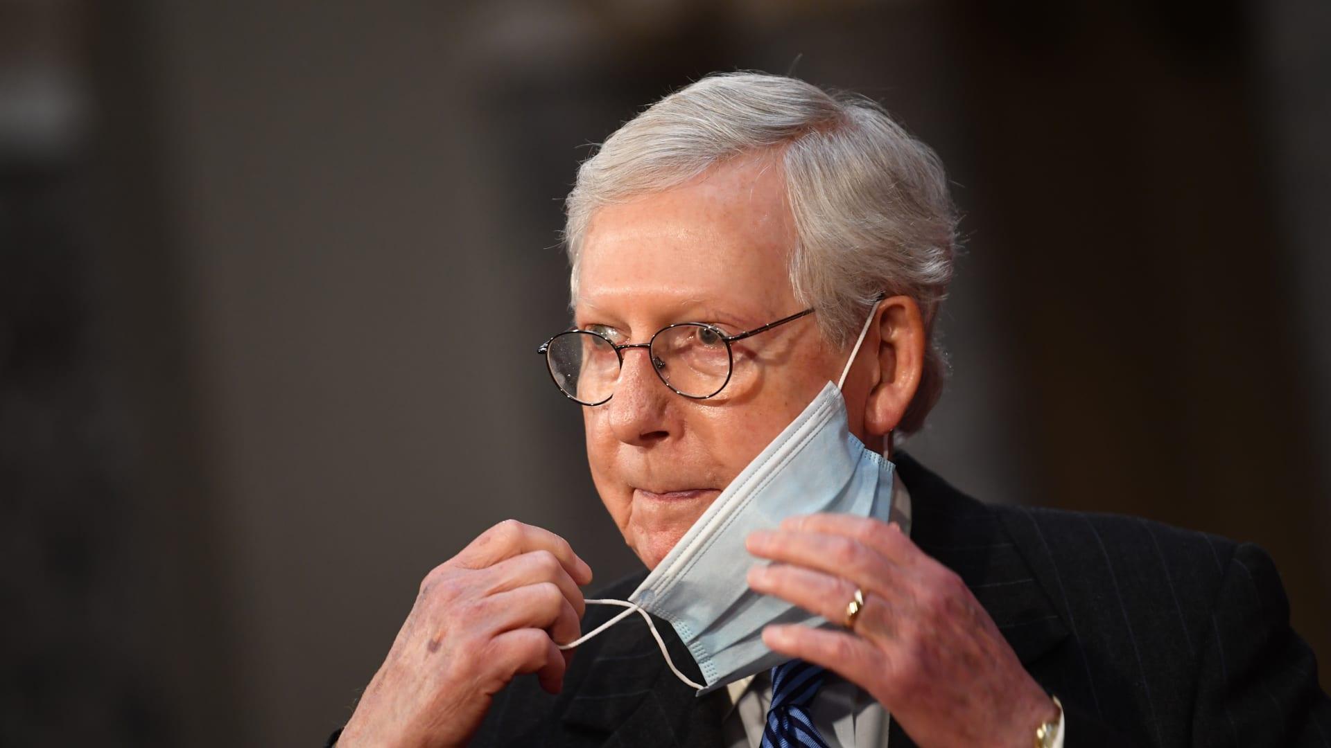 """بعد تصويت """"النواب"""" لعزله.. زعيم الجمهوريين بـ""""الشيوخ"""": لا مساءلة لترامب قبل تنصيب بايدن"""