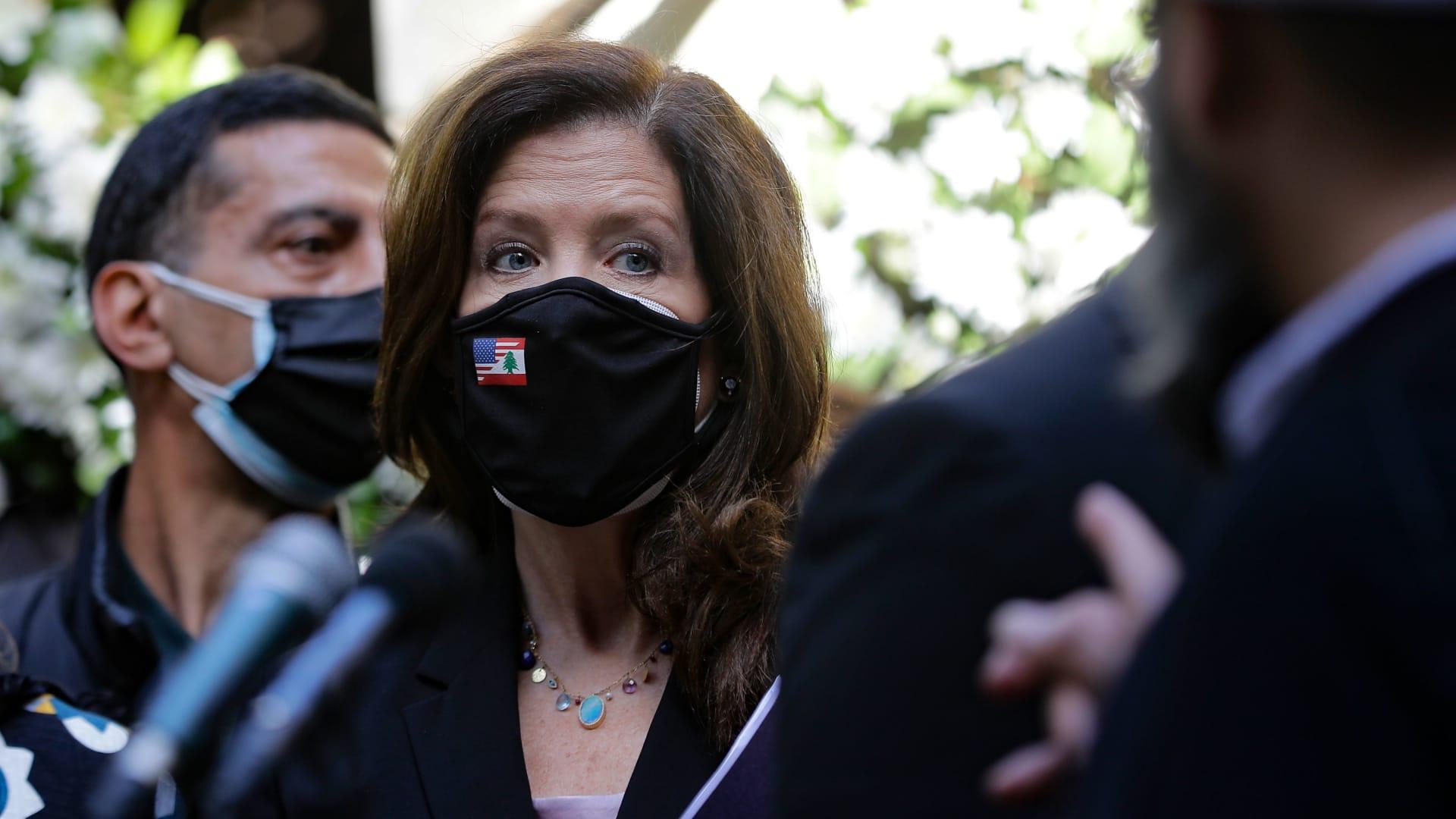 السفيرة الأمريكية في لبنان دوروثي شيا