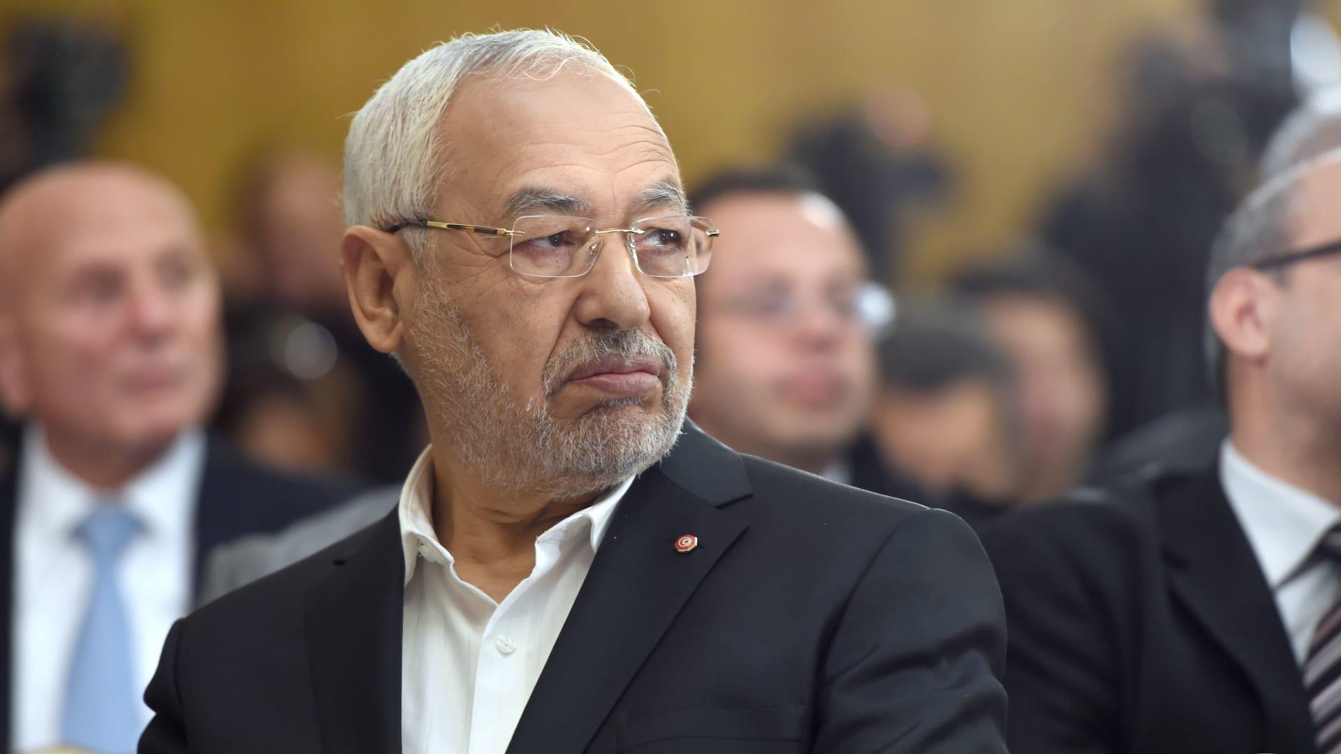 زعيم حزب حركة النهضة الإسلامي في تونس، راشد الغنوشي