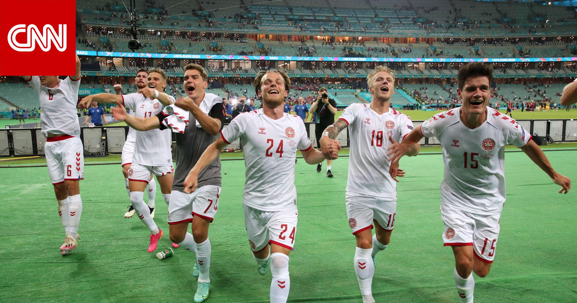 الدنمارك تتأهل لنصف نهائي أمم أوروبا بعد الفوز على التشيك بهدفين مقابل هدف