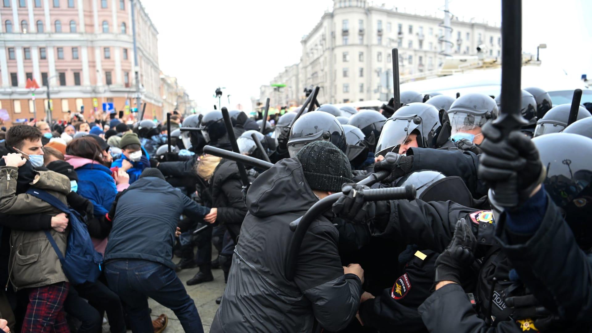 اعتقال زوجة المعارض الروسي أليكسي نافالني في موسكو