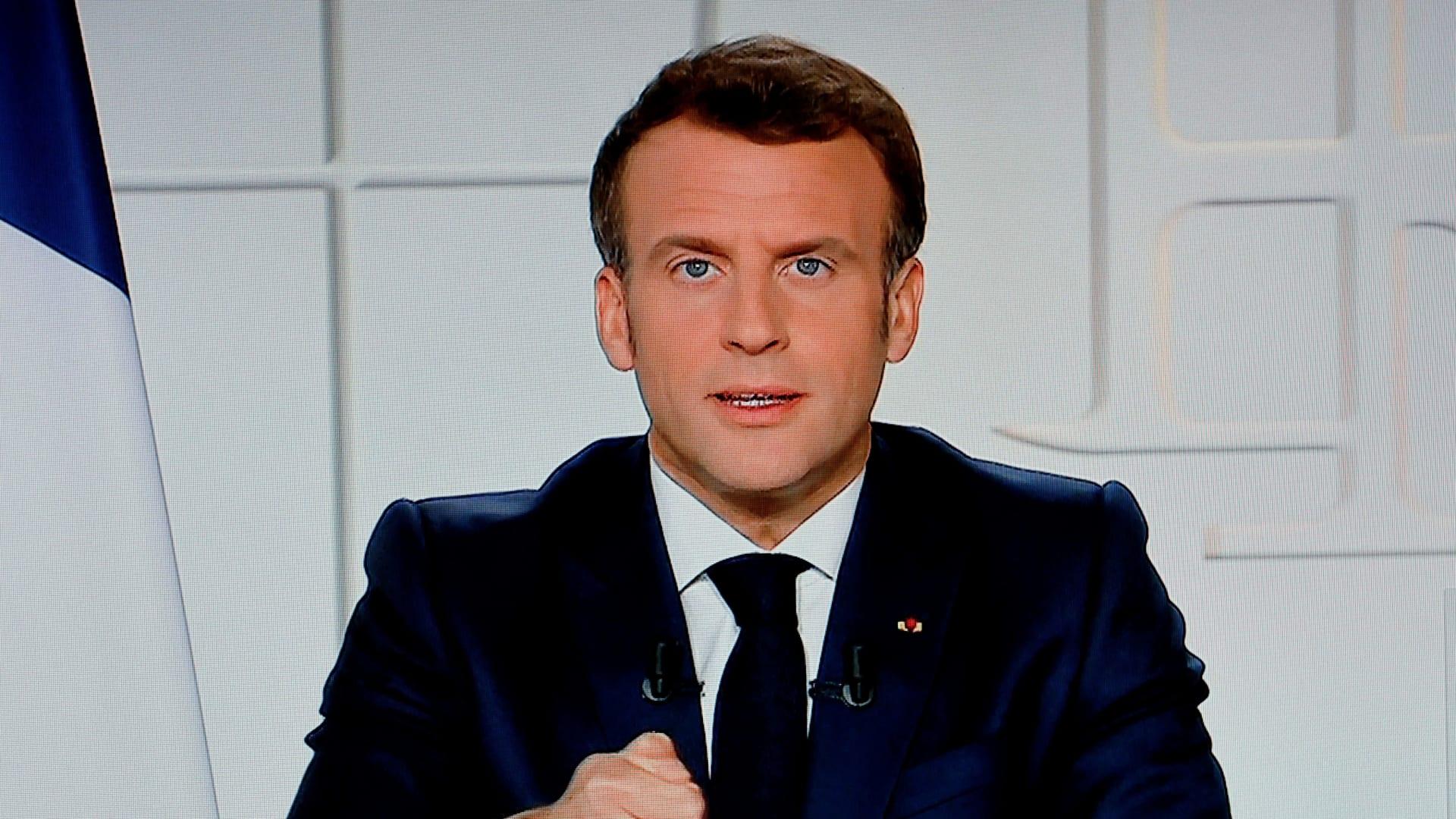 """ماكرون يعلن تمديد الإغلاق الجزئي في فرنسا.. ويحذر من """"فقد السيطرة"""" على كورونا"""