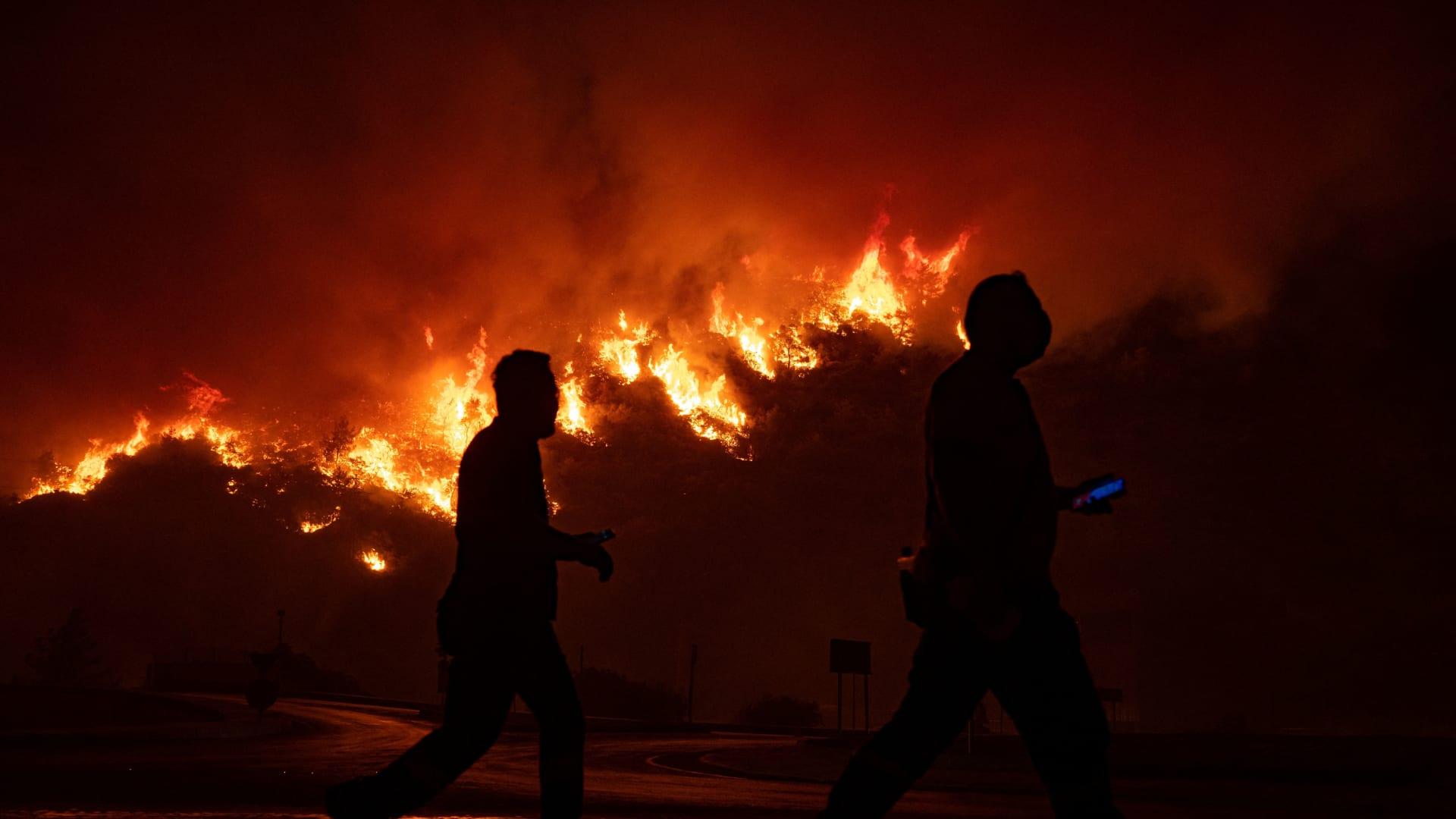 بعد تحذيرات أردوغان.. الحرائق تصل لمحطة حرارية في تركيا ومحافظ المنطقة يطلب دعما جويا