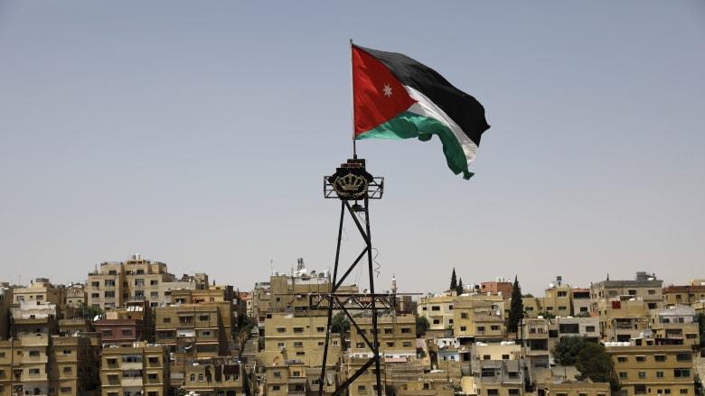 علم الأردن يرفرف في العاصمة عمّان