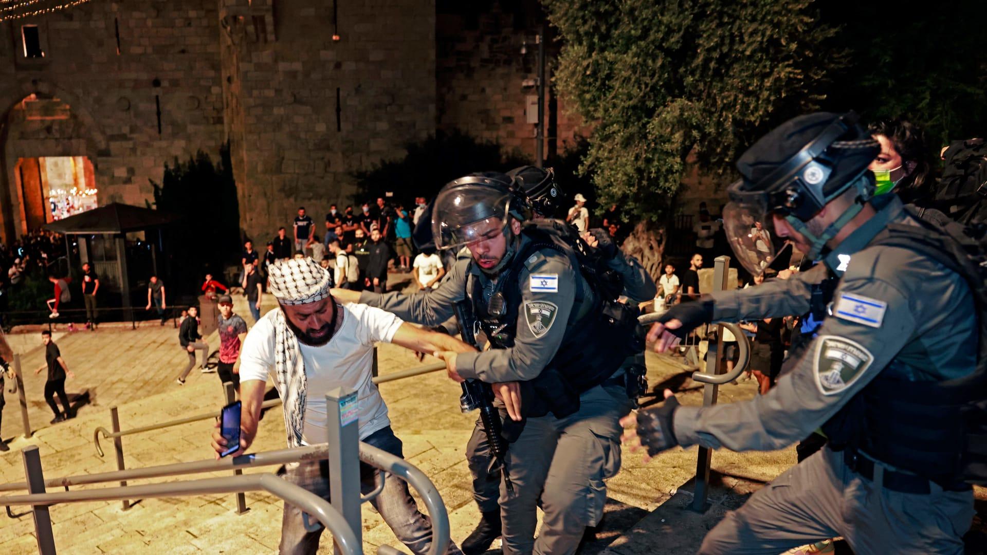 تجدد المواجهات في القدس يوم الأحد 9 مايو/أيار