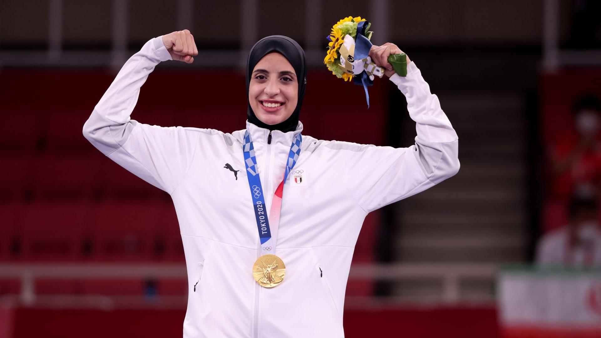 تاريخ.. فريال أشرف تهدي مصر أول ذهبية في أولمبياد طوكيو