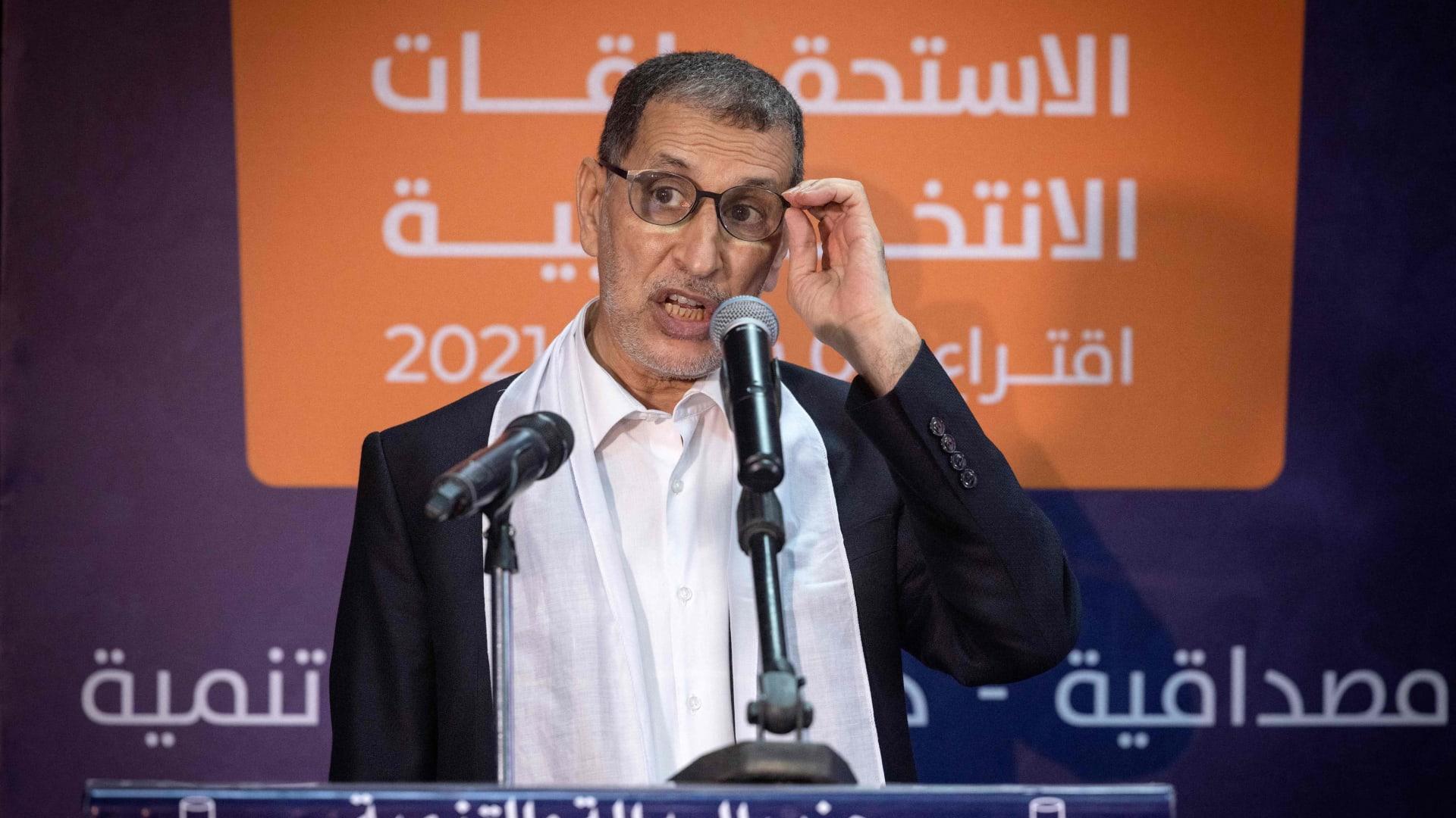 سعد الدين العثماني رئيس الوزراء المغربي السابق ورئيس حزب العدالة والتنمية الإسلامي