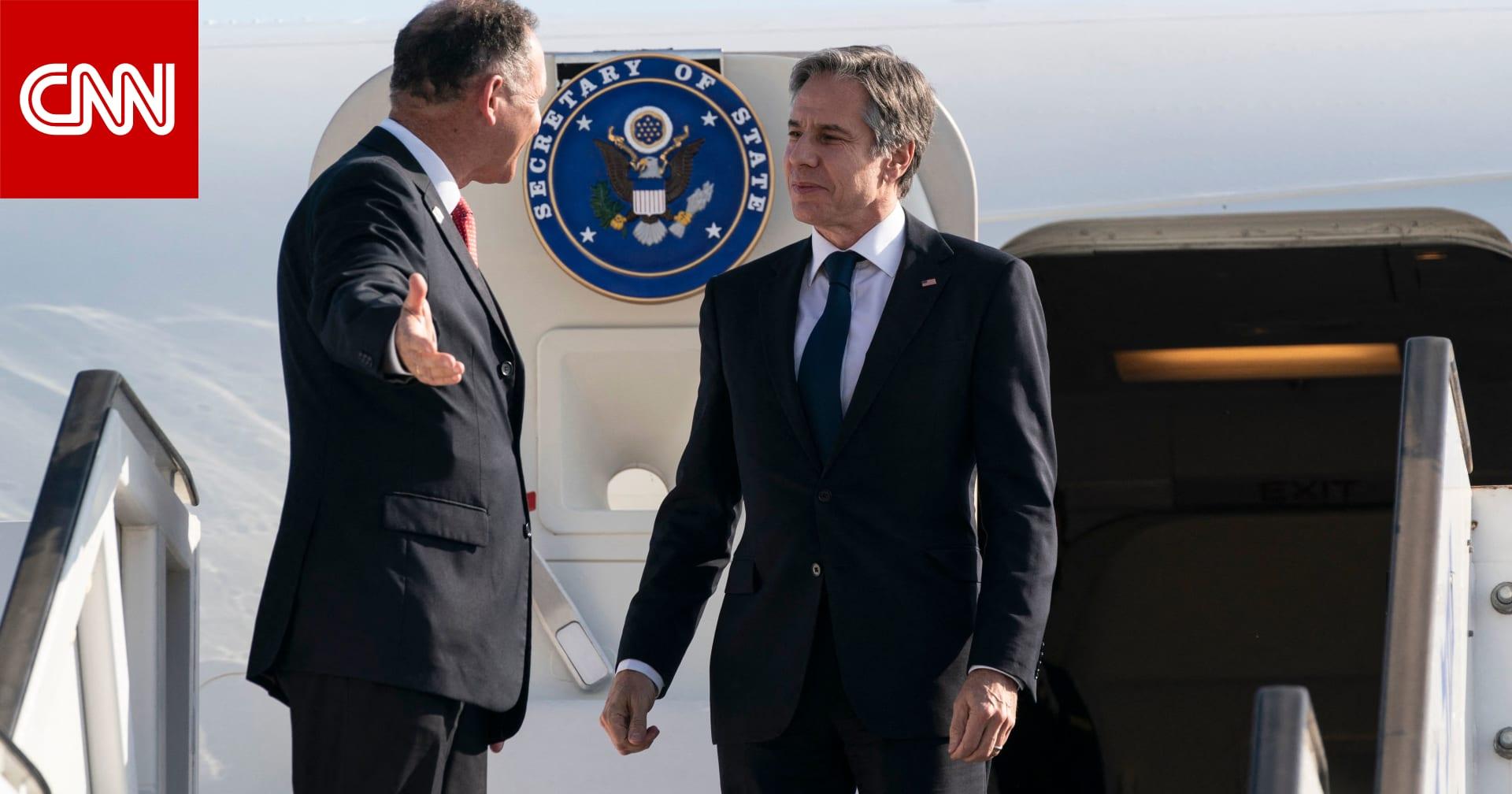 وزير الخارجية الأمريكي يصل إسرائيل بأول زيارة له بمنصبه