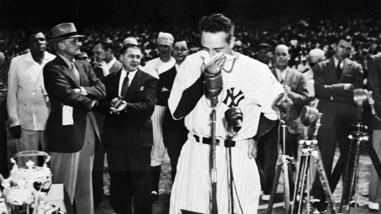 """خطاب """"أكثر الرجال حظًا"""" في عالم الرياضة للو غيريغ لا يزال يتردد صداه اليوم"""