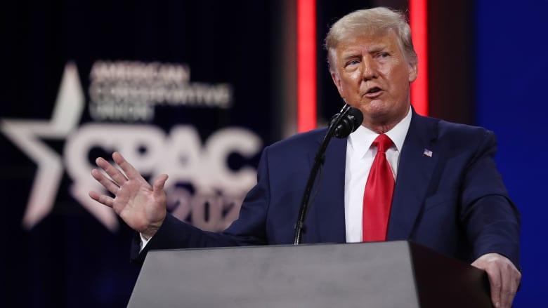 """""""أكاذيب"""" مكررة بأول خطاب لترامب بعد مغادرته المنصب"""