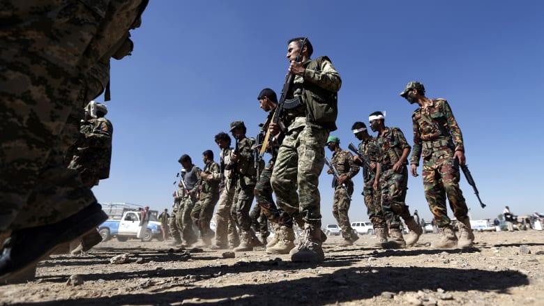 صورة أرشيفية لمجندين جدد موالين لجماعة الحوثي