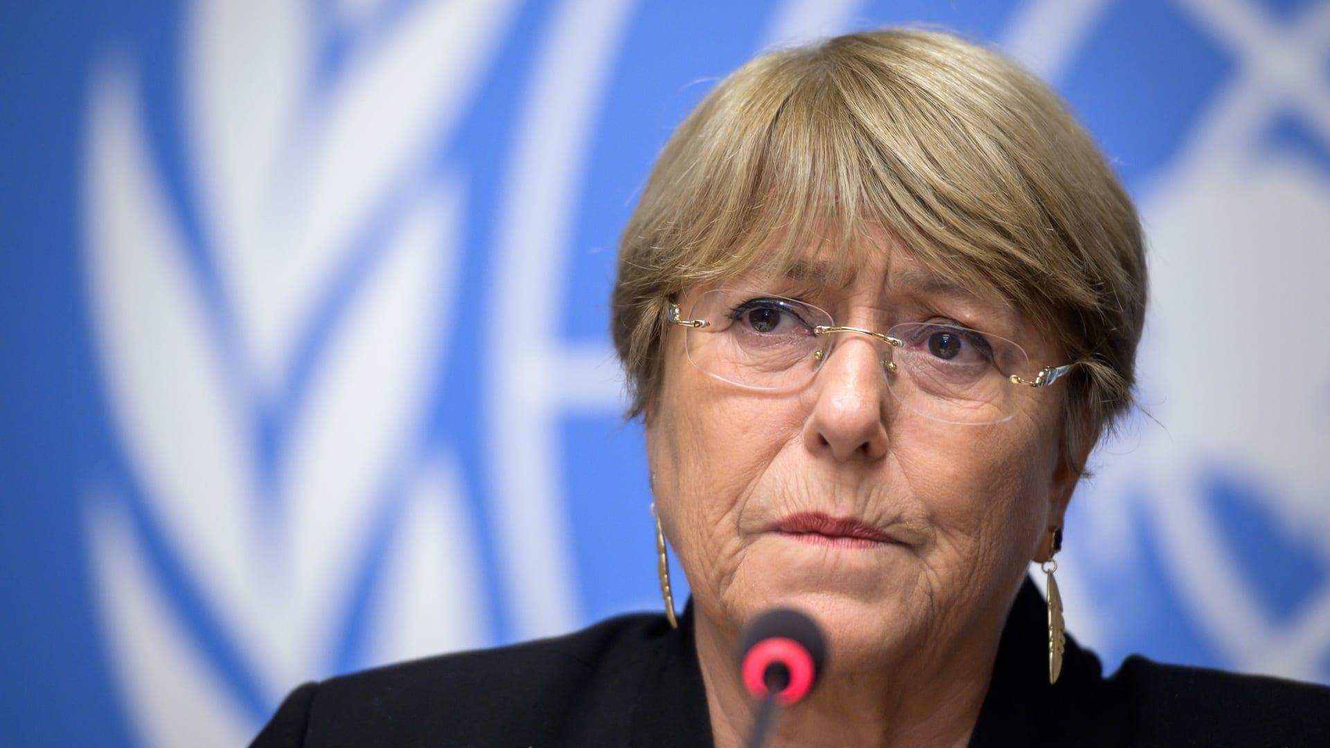 ميشيل باشيليت الرئيسة السابقة لتشيلي والمفوضة السامية الحالية لحقوق الإنسان التابعة للأمم المتحدة