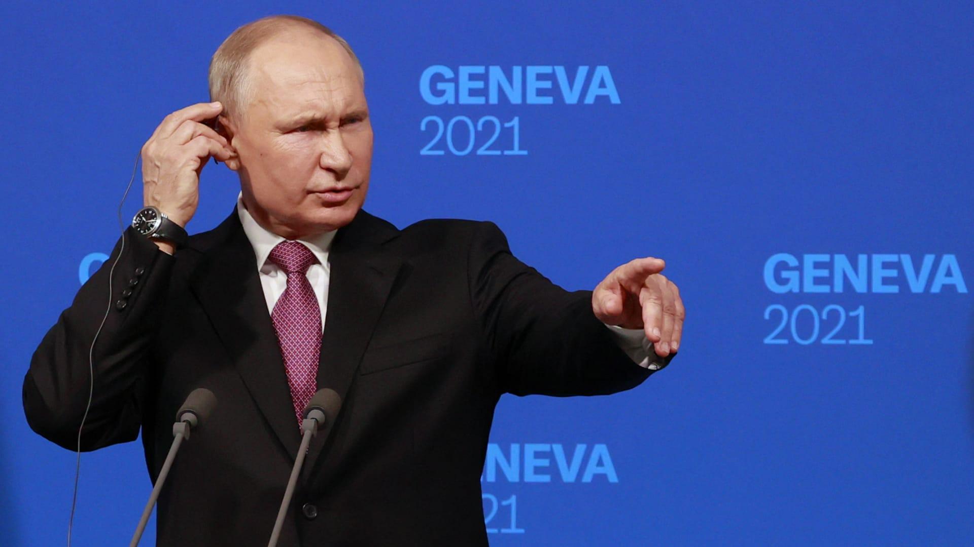 """لا """"عداء"""" مع بايدن.. أبرز ما قاله بوتين بعد لقاء الرئيس الأمريكي"""